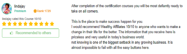 Wealthy Affiliate OEC review 4