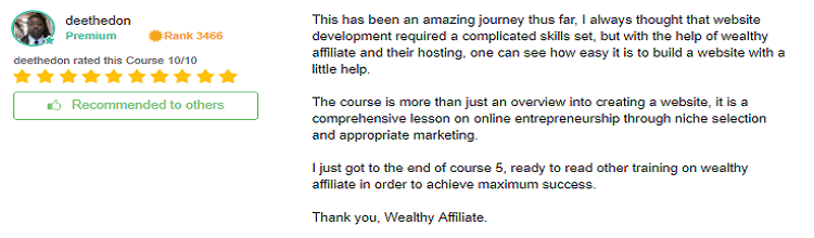 Wealthy Affiliate OEC review 6