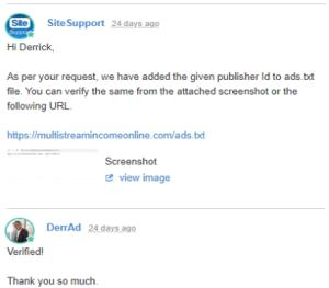 wa site support response