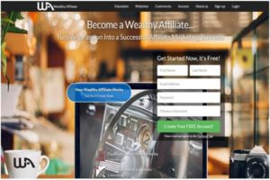 Wealthy Affiliate Main page