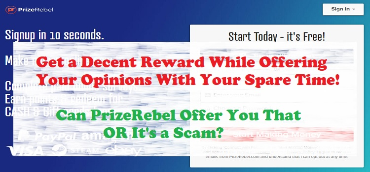 Is PrizeRebel Scam OR Make Money Online Now