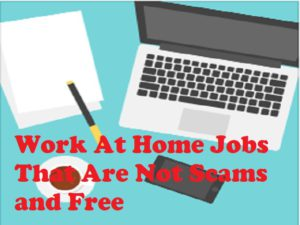 Work at home jobs that are not scams and free