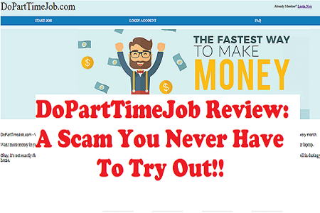 Is DoPartTimeJob a scam review