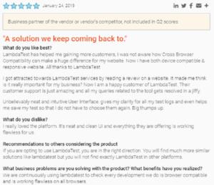 LambdaTest user satisfaction