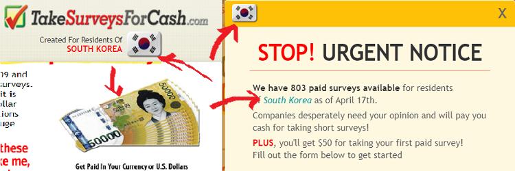 Take Surveys for cash geo-targeting