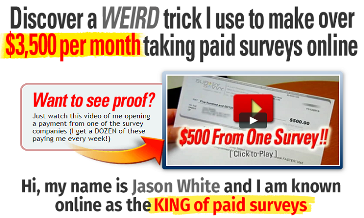 Take Surveys for cash king of paid surveys