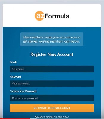 AZ Formula log in
