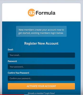 AZ Formula log in