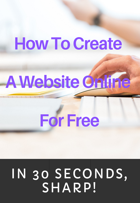 How to create a website online for free