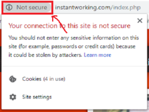 Instant Working is unsecured site