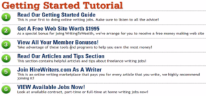 Writing To Wealth getting started guide