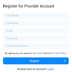 Fluidstack registration form