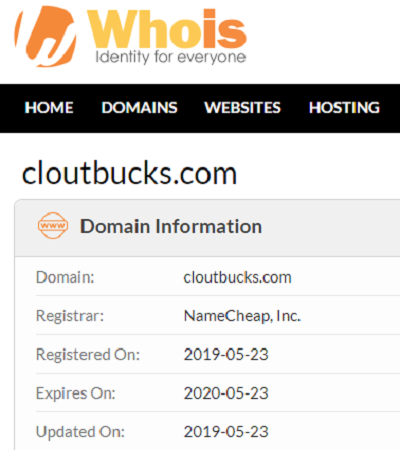 clout bucks review - domain check