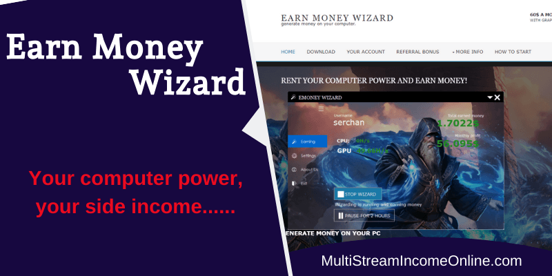 Earn online with Earn Money Wizard