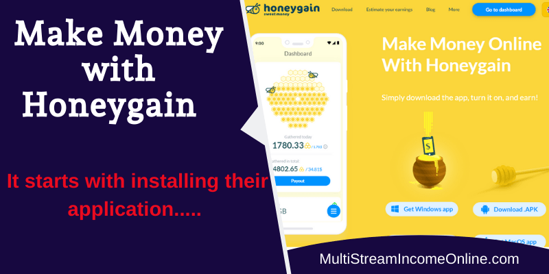earn money with Honeygain bandwidth sharing