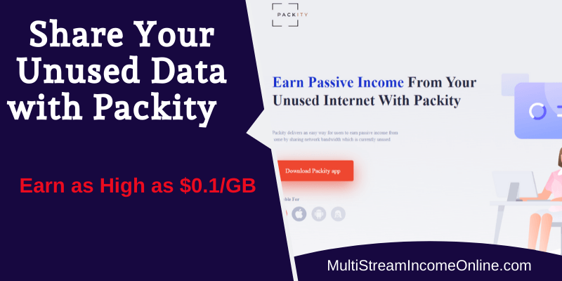 Packity Bandwidth Platform makes you passive income with idle computer