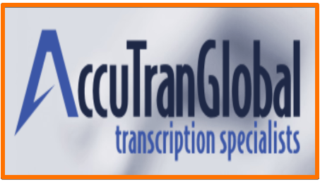 AccuTran Global transcription job remote work from home
