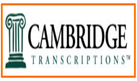 Cambridge Transcriptions jobs remote work from home