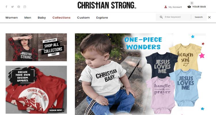Christian Strong Affiliate Program for Christian Apparel