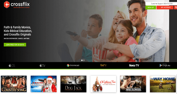 CrossFlix Affiliate Program for Christian related movies