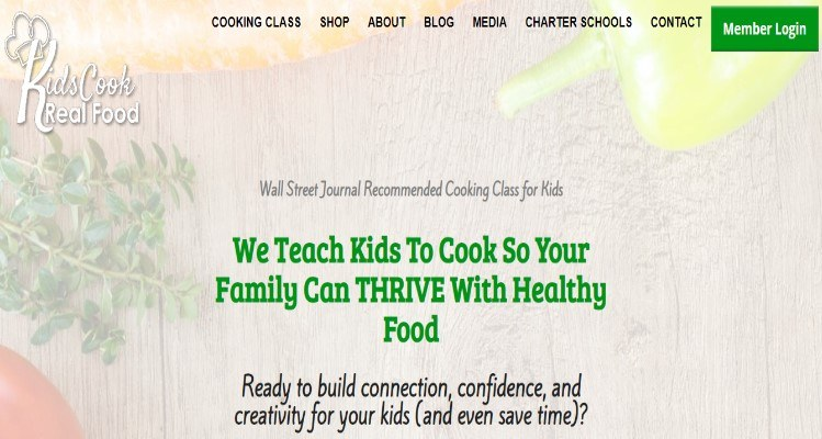 Kids Cook Real Food eCourse for homeschooling affiliate marketers