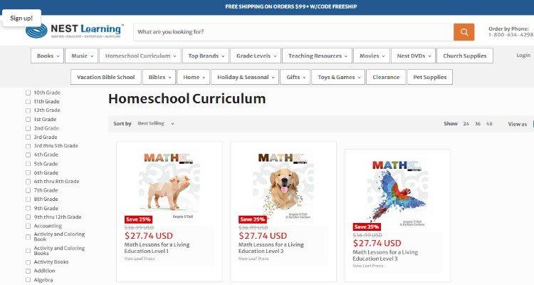 Nest Learning Homeschool Curriculum for homeschooling affiliate bloggers