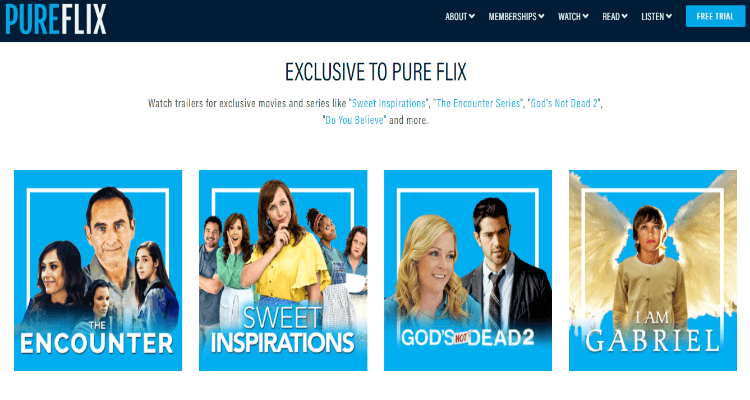 PureFlix Affiliate Program for Christian streaming videos