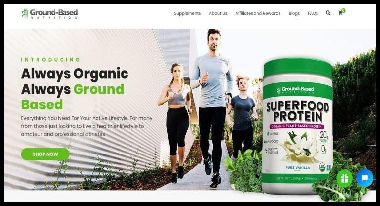 Ground Based Nutrition Affiliate Program for Vegan Audience